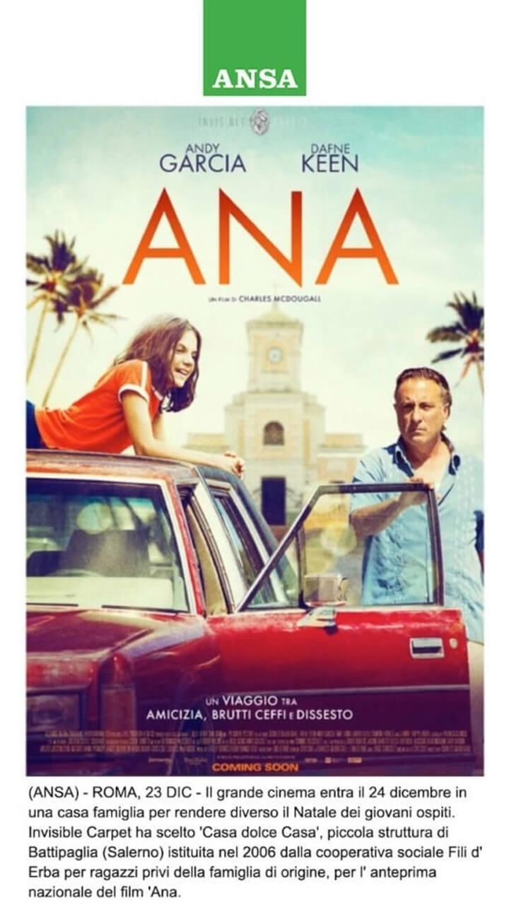 A NATALE IN CASA FAMIGLIA L'ANTEPRIMA DEL FILM 'ANA'